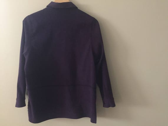 PURPLE VELOUR Blazer - image 2