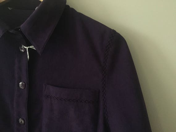 PURPLE VELOUR Blazer - image 3