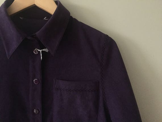 PURPLE VELOUR Blazer - image 1