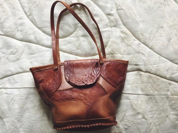 Genuine Patchwork Leather Shoulder Bag