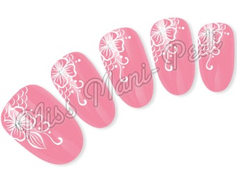 Henna Nail Decals Etsy