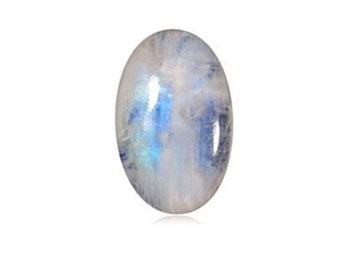 1 Piece Natural Rainbow Moonstone Cabochons 15x20mm Oval Shape White Moonstone Gemstones Cabs Loose Stones Smooth Gems Semi Precious C-18899