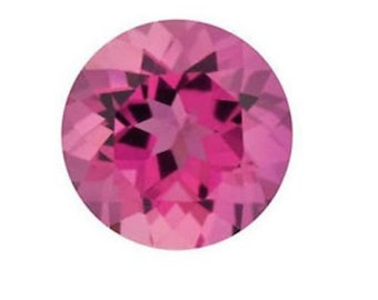 Natural Pink Tourmaline Round Loose Gemstones (1.5mm - 8mm)