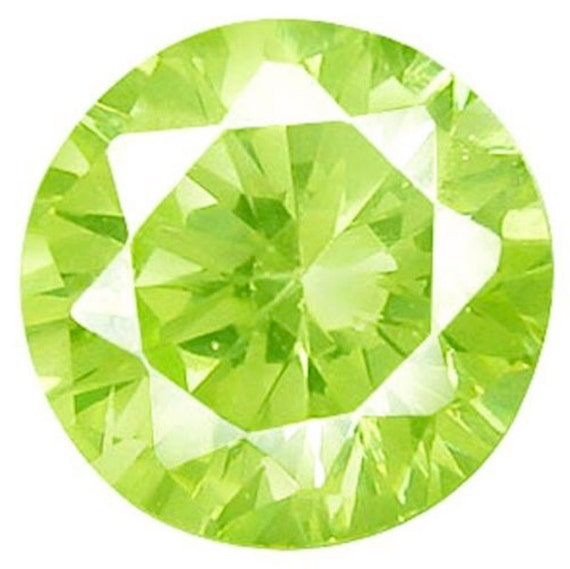1mm - 17mm Cubic Zirconia Olive Green Round AAA Rated CZ Loose Stones