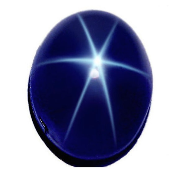 5 ct Beautiful 6 Rays Royal Blue Star Sapphire Oval Cabochon Star Stone 10*8 MM
