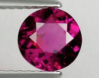 Lab Created Hydrothermal Rubellite Round Faceted Loose stone (2mm - 13mm)