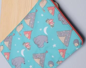 Stars and Moon Bear Beaver Wet Bag~ Tents and Camping~Swim, Travel, Baby, Diaper Bag, Dry or Wash Bag~