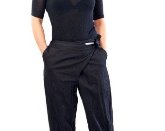 Black Drop Crotch Pants  Jersey Harem Pants  Plus Size Pants TP03  Loose Pants  Yoga Pants