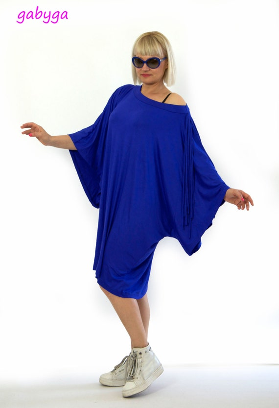 Oversized New collection party Royal caftan tunic dress blue tunic maxi dress size Spring Sexi blue Blue blue tunic maxi Woman Royal Plus rRr8dwqX