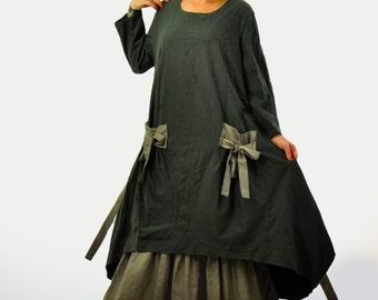 Wool Dress, Winter Dress, Maxi Dress, Long Dress, Plus Size Maxi Dress, Extravagant Dress, Plus Size Clothing, Long Sleeve Dress,Autumn Wear