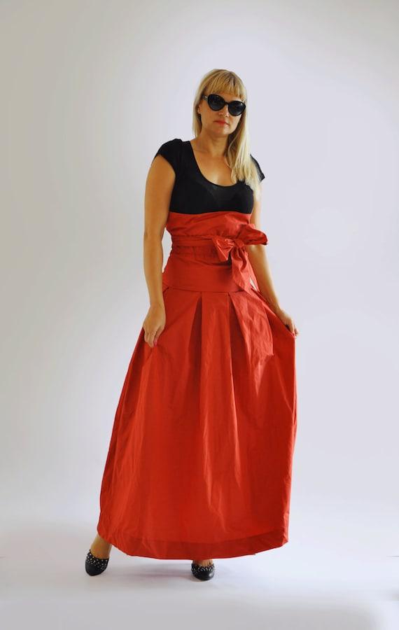 f3bae8e05c44 Jupe longue rouge Long Extravagant jupe Womens occasionnel