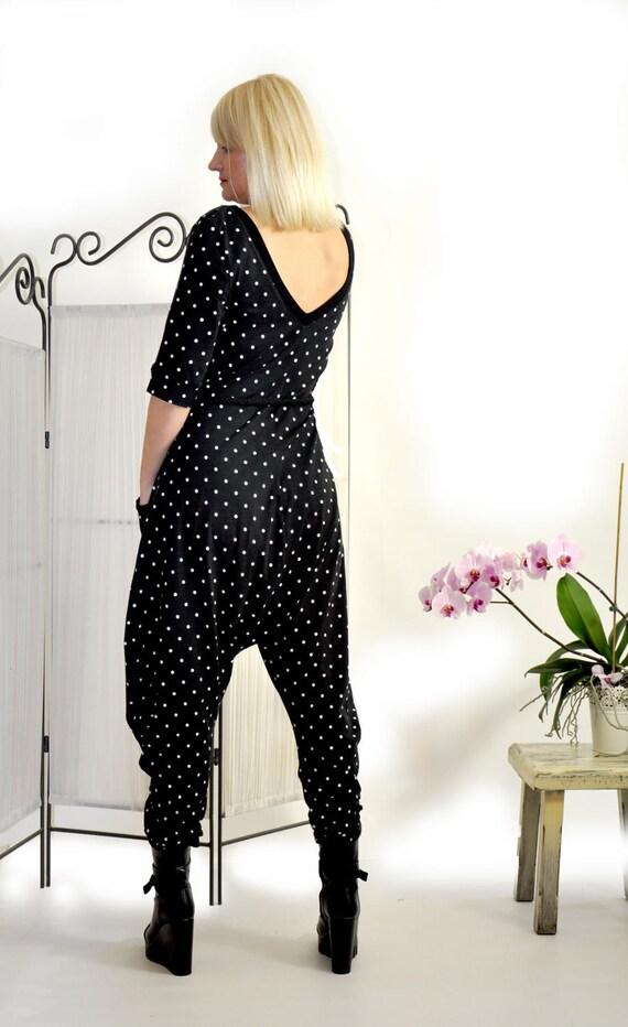 Black Black Black casual Oversize G0301 jumpsuit Two black Jumpsuit pockets romper jumpsuit jumpsuit points Harem Women jumpsuit Loose 7U7fr1wq