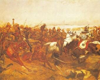Military Art Postcard Maiwand Saving the Guns Richard Caton Woodville #14-3
