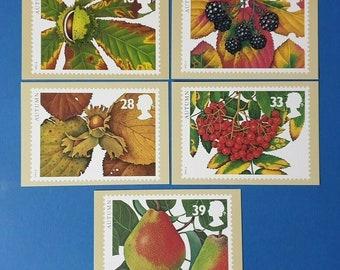 Set of 5 PHQ Stamp Postcard Set No.179 Football Legends  BI8