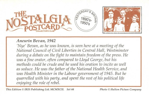 Nostalgia Postcard Whitechapel London c1930s Reproduction Card NS44