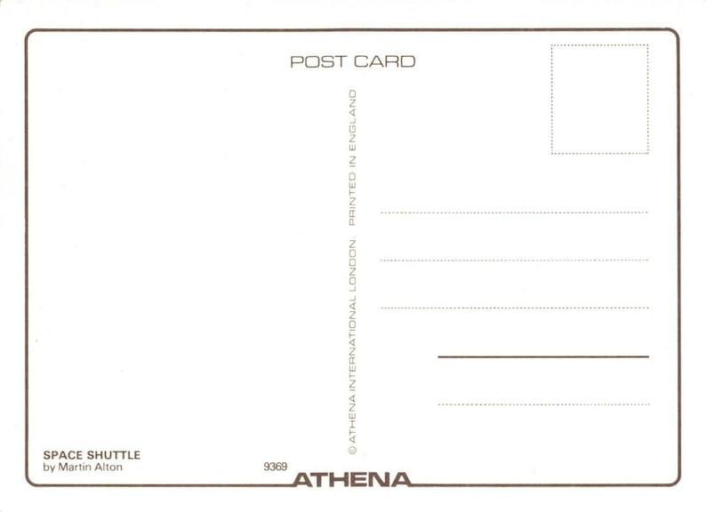 Aircraft Postcard Airkraft Designs by Martin Alton Athena MP1 Space Shuttle
