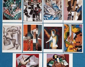 Beautiful Set of 10 JUAN GRIS Cubist Cubism Art Paintings Postcards Prints 57O