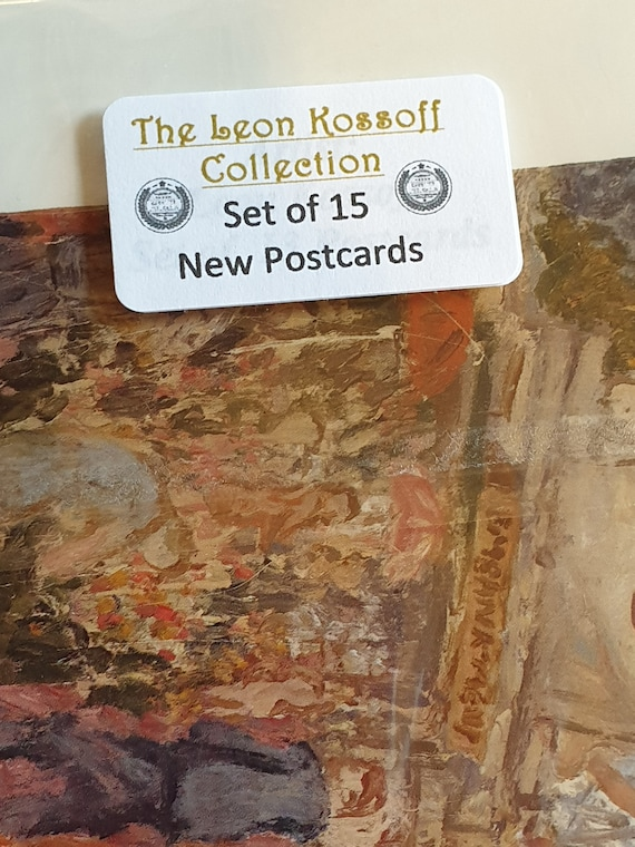Set of 15 Brand New Art Postcards The Leon Kossoff Collection