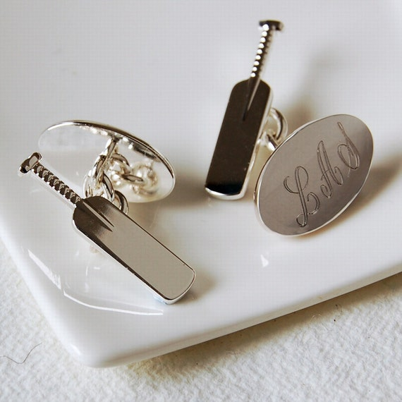 Select Gifts Cuff Links Cricket Cufflinks~Sports Cufflinks~Cricket Stumps~Novelty Engraved Personalised Box