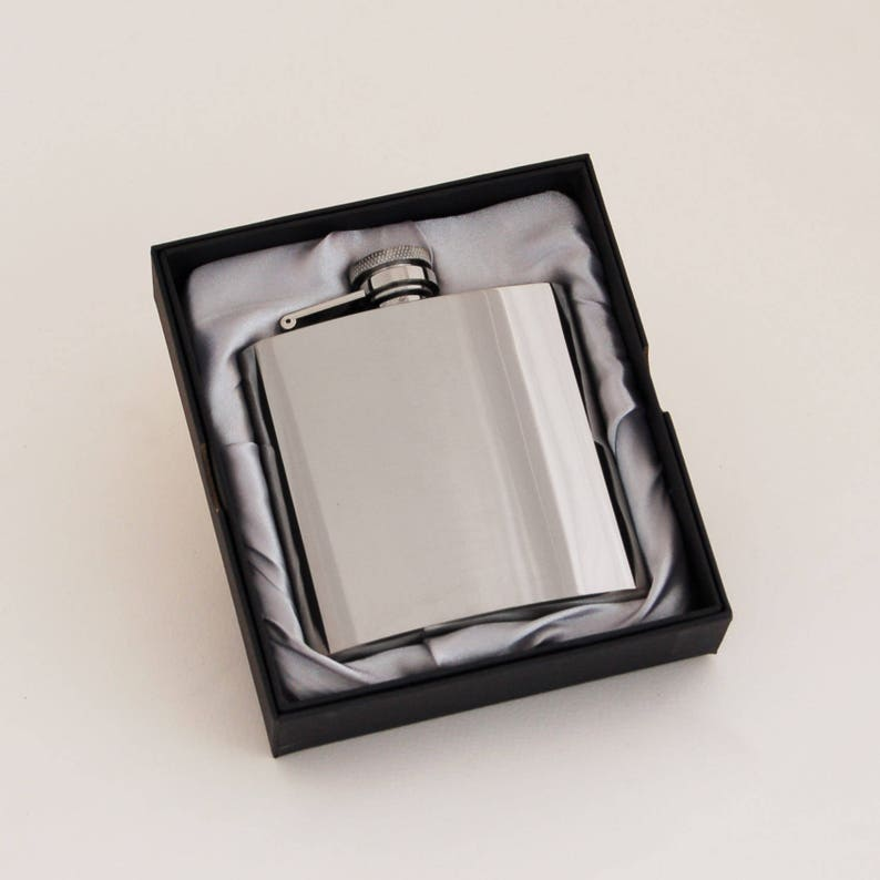 f1ccee289766 4oz Pocket Hip Flask With Initials Wedding Anniversary