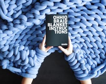 "Ohhio Braid Blanket DIY Kit, Medium (40"" x 60"")"