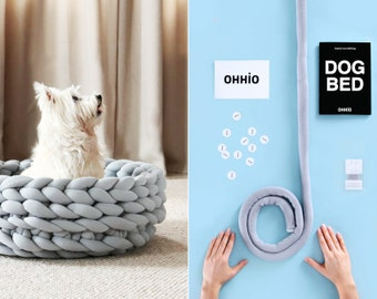 DIY Kit – Ohhio Braid Dog Bed. 24 inches in diameter. 4 colors available.