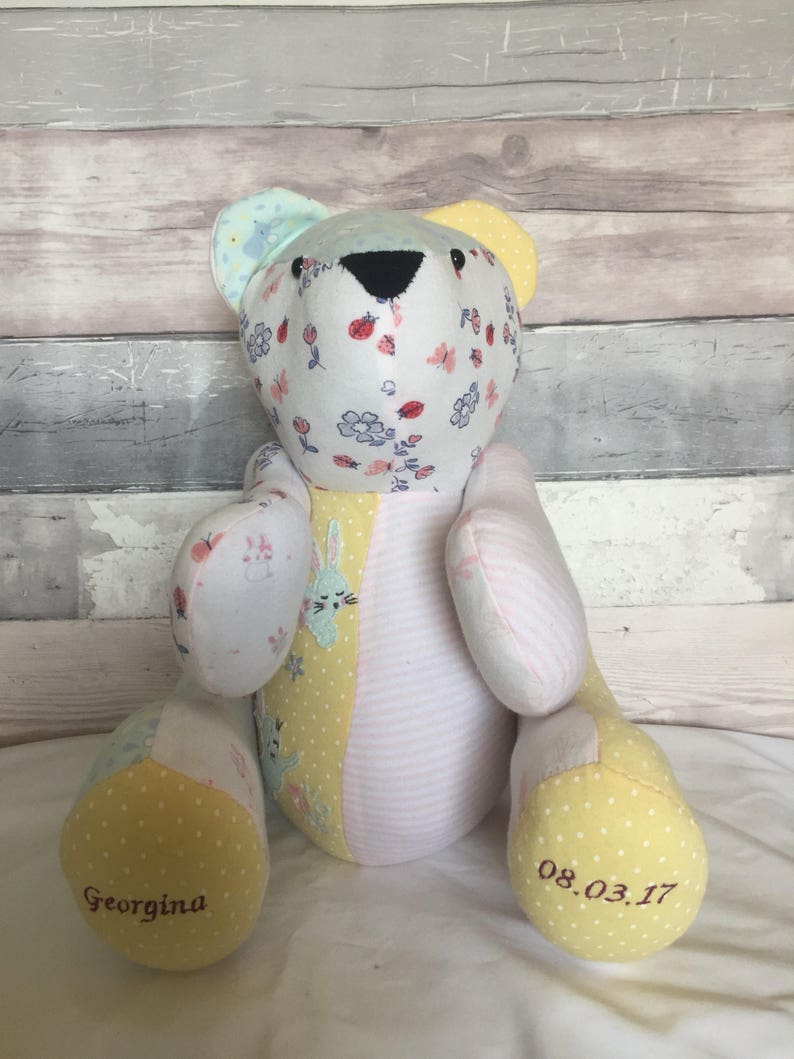 e87aca62e8dd Weighted keepsake memory bears or animals made from your
