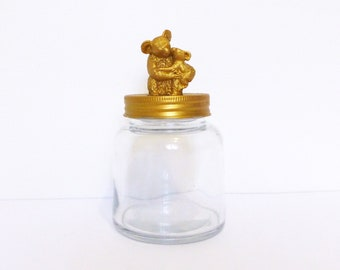 Gold Koala Mason Jar Topper / Small Home Storage Decor / Koala Jar Storage / Australian Animal Jar / Animal Jar Decoration / Koala Small Jar