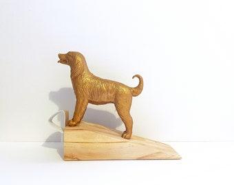 Gold Dog Door Stop / Bernese Mountain Dog Gold Door Stop / Wooden Door Stop / Dog Doorstopper / Dog Wood Door Wedge /Bernese Mountain Dog