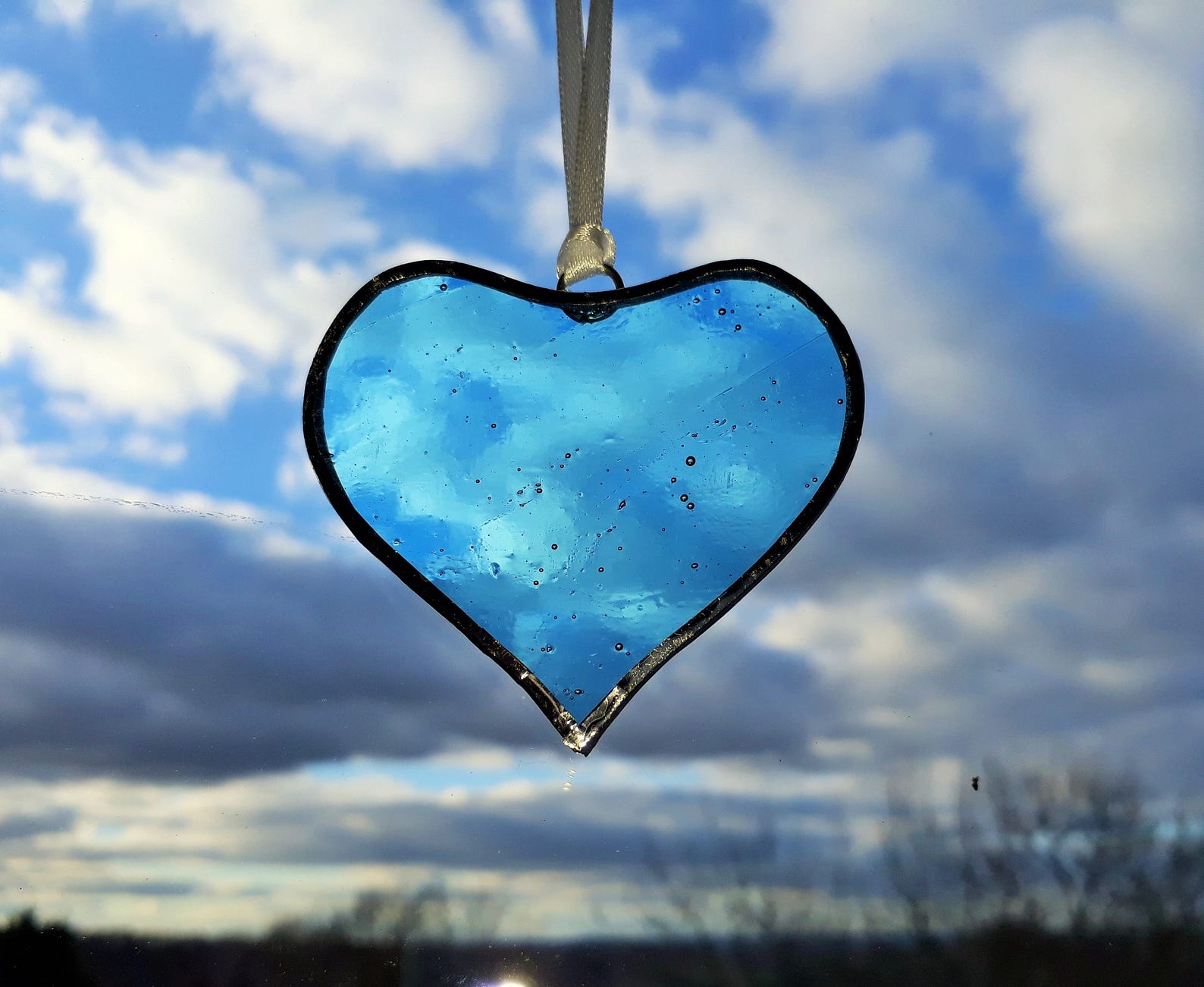 Stained Glass Heart Sun Catchers