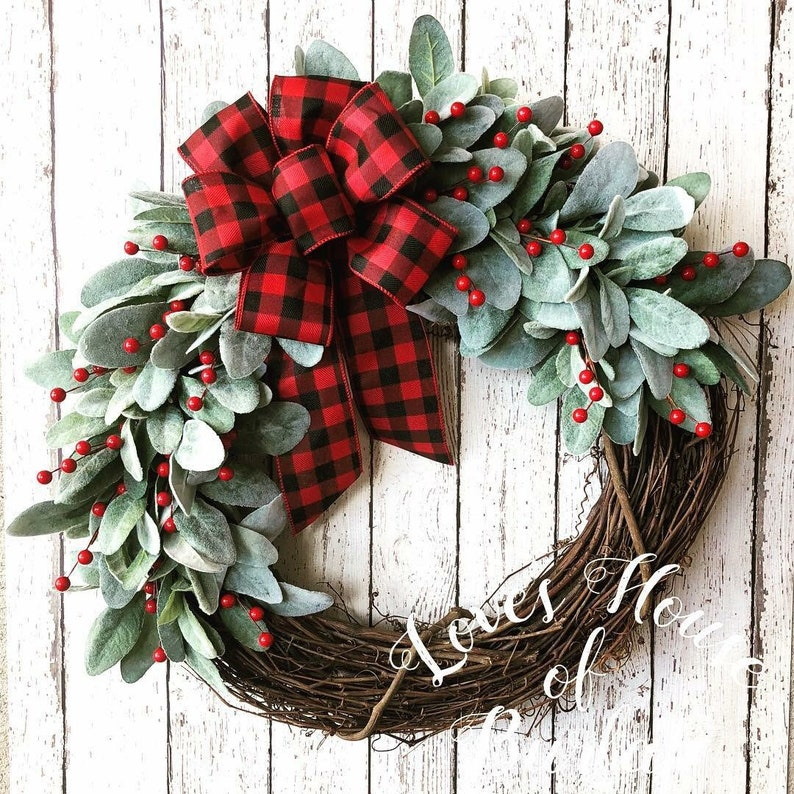 Best Seller Christmas Wreath Valentines Wreath Farmhouse Etsy