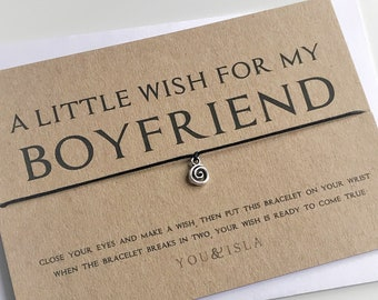 Gifts For Him Boyfriend Gift Birthday Bracelet Wish Card Valentines