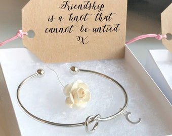 Best Friend Gift For Birthday Friendship Bracelet Knot Christmas Her