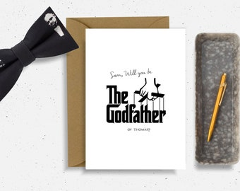 the godfather card will you be my godfather card Best Friend Card brother Card Friendship godfather themed gift godfather christening card