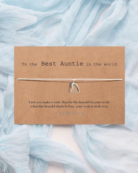 Tante Wunsch Armband Geschenk Tante Geschenk Beste Tante Karte Tante Geschenk Tante Freundschaft Armband Karte Geschenk Neue Tante Geschenk Tante