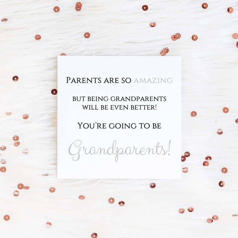 Personalised pregnancy announcement card for grandparents announcement great grandparents we/'re pregnant promoted grandparents to be card