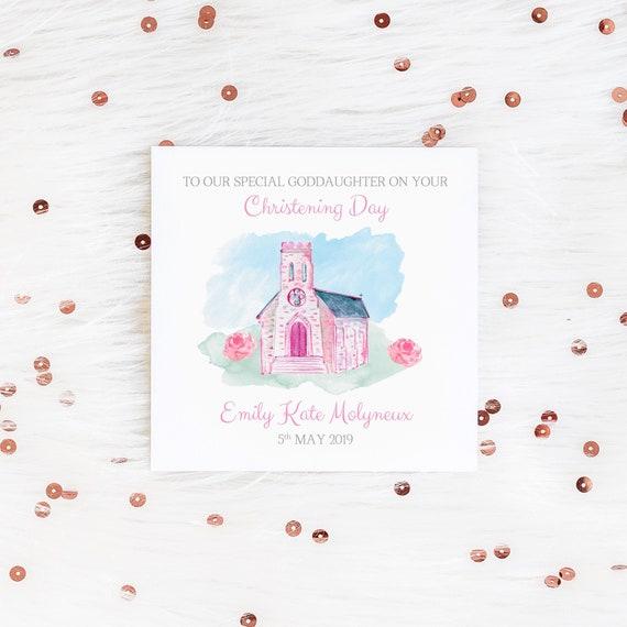 Personalisierte Karte Baby Taufe Karte Taufe Karte Personalisierte Karte Mädchen Tochter Nichte Taufe Taufe Taufe Taufe