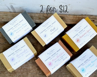 Pick Any 2 for 12 Dollars | Farm Fresh | Pastured | Palm-Free Goat Milk Soap