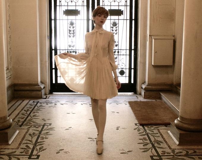 White muslin dress