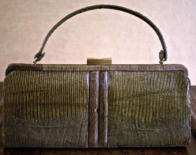 Green bronze lizard bag 50 years