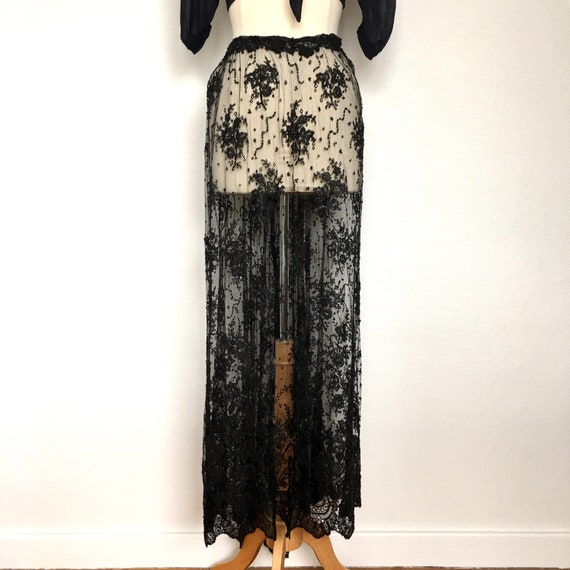 40's lace skirt