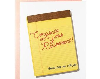funny retirement card, Funny congratulations card, funny congrats card, funny wedding card, funny engagement card, funny new job card