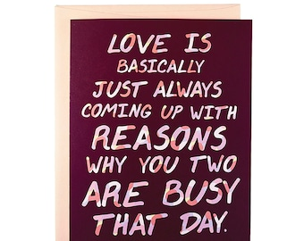 Funny love Card, funny romance card, card for boyfriend, card for husband, love card, romance card, funny valentines card, sweetest day card