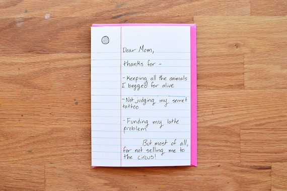 Funny Mom Birthday Card Mom From Daughter Funny Mothers Day Etsy