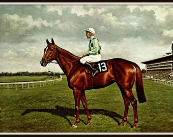 Dahlia Painted By Richard Stone Reeves Race Horses Thoroughbreds Horse Racing Famous 15 Inches Wide And 12 Tall