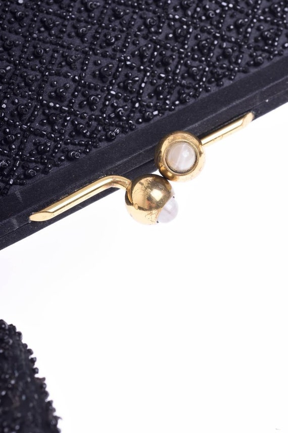a559e1d676f PIROVANO Italian Couture vintage 1950s black glass beadeds   Etsy