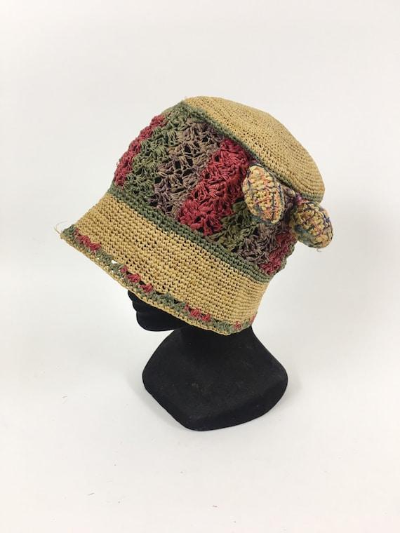 Jahrgang Der 1920er Jahre Bast Häkeln Cloche Hut Etsy