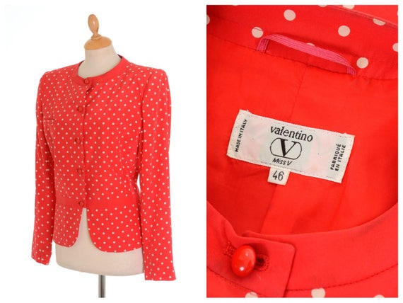 VALENTINO authentic vintage 1980s 1990s red polka