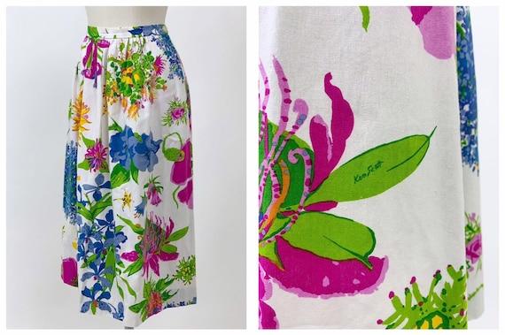KEN SCOTT authentic vintage 1970s floral print cot