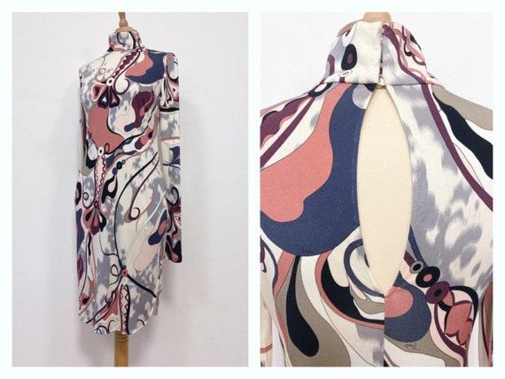 Incredible 1990s designer Emilio Pucci geometric mod leotardbodysuit